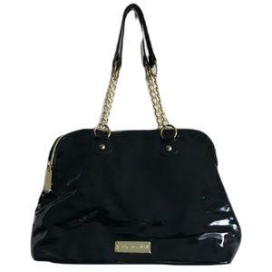 🎀Betsey Johnson Logo Black check Large Tote Shoulder Ladies Handbag